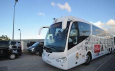 האוטובוס של ריאל מדריד צילום(Gettyimages)