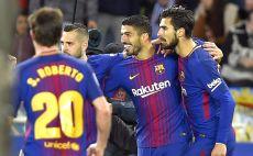 שחקני ברצלונה חוגגים צילום(AFP)