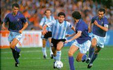 דייגו מראדונה נגד איטליה 1990 צילום(טוויטר)