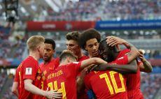 שחקני נבחרת בלגיה חוגגים צילום(Gettyimages)