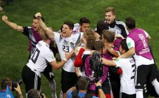 שחקני נבחרת גרמניה חוגגים צילום(Gettyimages)