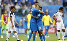 שחקני נבחרת ברזיל חוגגים צילום(Gettyimages)
