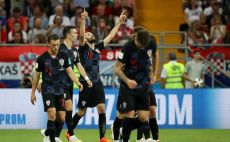שחקני נבחרת קרואטיה חוגגים צילום(Gettyimages)