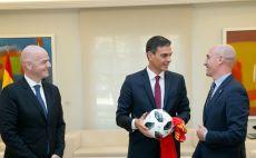 ג'אני אינפנטינו, לואיס רוביאלס, פדרו סאנצ'ס צילום(ההתאחדות הספרדית לכדורגל, רשמי)