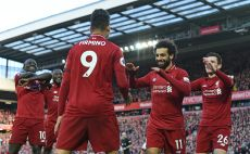 שחקני ליברפול חוגגים צילום(AFP)