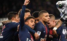 שחקני פריז סן ז'רמן חוגגים צילום(AFP)