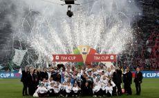 לאציו מחזיקת הגביע האיטלקי צילום(AFP)