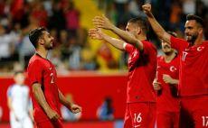 שחקני נבחרת טורקיה חוגגים צילום(Gettyimages)