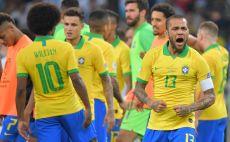 שחקני נבחרת ברזיל צילום(LUIS ACOSTA/AFP/Getty Images)