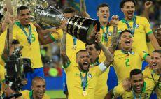 שחקני נבחרת ברזיל צילום(MAURO PIMENTEL/AFP/Getty Images)