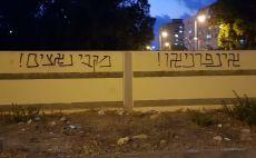 כתובות נאצה, אוהדי הפועל חיפה צילום(פרטי)