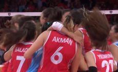 טורקיה כדורעף נשים צילום(מסך)