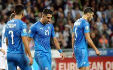שחקני נבחרת ישראל מאוכזבים צילום(אודי ציטיאט, סלובניה)