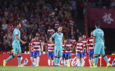 שחקני ברצלונה מאוכזבים צילום(Aitor Alcalde/Getty Images)