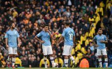 שחקני מנצ'סטר סיטי מאוכזבים צילום(OLI SCARFF/AFP via Getty Images)
