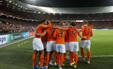 שחקני נבחרת הולנד חוגגים צילום(MAURICE VAN STEEN/ANP/AFP via Getty Images)