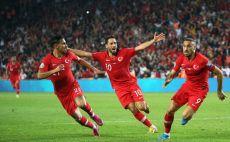 שחקני נבחרת טורקיה חוגגים צילום( -/AFP via Getty Images)