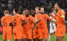 שחקני הולנד חוגגים צילום(SERGEI GAPON/AFP via Getty Images)