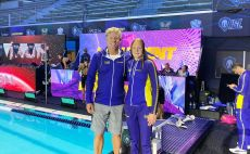 גורבנקו ודייויד מארש בבריכת התחרות בלואיוויל צילום(באדיבות איגוד השחייה)