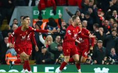 שחקני ליברפול חוגגים צילום(Alex Livesey/Getty Images)