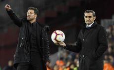 דייגו סימאונה, ארנסטו ואלוורדה צילום(LLUIS GENE/AFP/Getty Images)