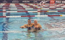 לאה פולונסקי, אנסטביה גורבנקו צילום(באדיבות איגוד השחייה)