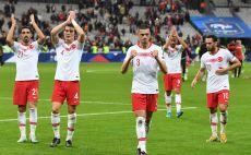 שחקני נבחרת טורקיה חוגגים צילום(ALAIN JOCARD/AFP via Getty Images)