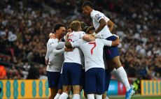 שחקני נבחרת אנגליה צילום(GLYN KIRK/AFP via Getty Images)
