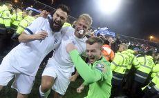 שחקני נבחרת פינלנד חוגגים צילום(MARKKU ULANDER/Lehtikuva/AFP via Getty Images)