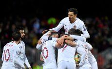 שחקני נבחרת פורטוגל חוגגים צילום(JOHN THYS/AFP via Getty Images)