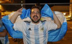 אוהד נבחרת ארגנטינה בתל אביב צילום( JACK GUEZ / Contributor)