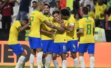 פיליפה קוטיניו ושחקני ברזיל חוגגים צילום( KHALED DESOUKI / Contributor)