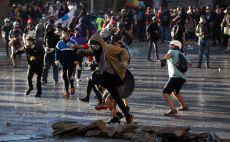 מהומות בצ'ילה צילום(CLAUDIO REYES/AFP via Getty Images)