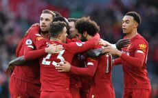 שחקני ליברפול חוגגים צילום(PAUL ELLIS/AFP via Getty Images)