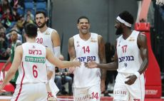 שחקני הפועל ירושלים חוגגים צילום(דני מרון)