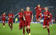 שחקני ליברפול חוגגים צילום(Alex Pantling/Getty Images)
