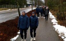 נבחרת ישראל בכדוריד ברחובות פינלנד צילום(דורון בן עטיה)