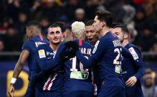 שחקני פריז סן ז'רמן חוגגים צילום(FRANCK FIFE/AFP via Getty Images)