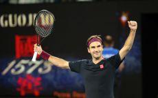 רוג'ר פדרר חוגג צילום(DAVID GRAY/AFP via Getty Images)