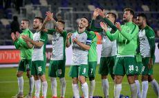 שחקני מכבי חיפה חוגגים צילום(אריאל שלום)