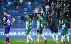 שחקני מכבי חיפה מאוכזבים צילום(מאור אלקסלסי)
