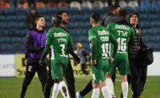 שחקני מכבי חיפה מאוכזבים צילום(דני מרון)
