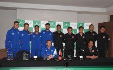 נבחרות ישראל וטורקיה בטניס צילום(לידור גולדברג, איגוד הטניס)