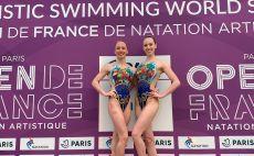 בנות הדואט בצרפת צילום(באדיבות איגוד השחייה הישראלי)
