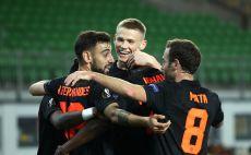 שחקני מנצ'סטר יונייטד חוגגים צילום(UEFA - Handout/UEFA via Getty Images)