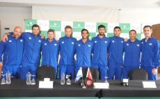 נבחרת הדייויס של ישראל צילום(לידור גולדברג, איגוד הטניס.)