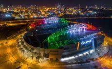 אצטדיון נתניה בצבעי איטליה צילום(רן אליהו)