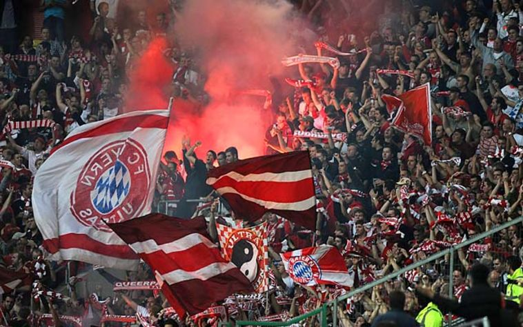 אוהדי באיירן מינכן. רק הצלחה באירופה תספק אותם (Gettyimages)