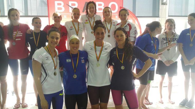 ארבע מדליות זהב ואחת מארד לשחיינים בבלגיה