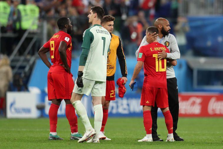 שחקני נבחרת בלגיה מאוכזבים